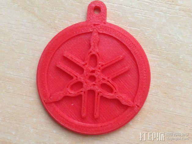 雅马哈标志 钥匙扣 3D模型  图3