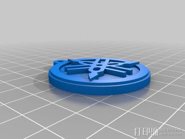 雅马哈标志 钥匙扣 3D模型  图5