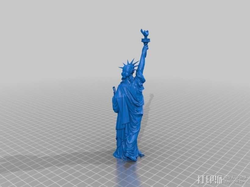 自由女神像 3D模型  图4