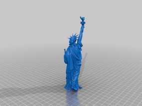 自由女神像 3D模型