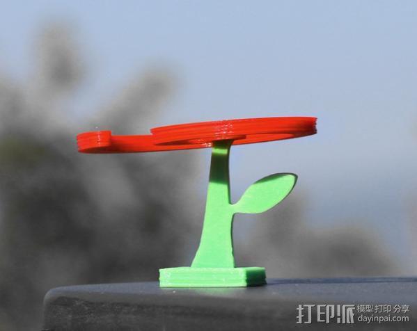 旋转飞花 3D模型  图1