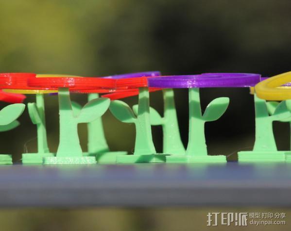 旋转飞花 3D模型  图2