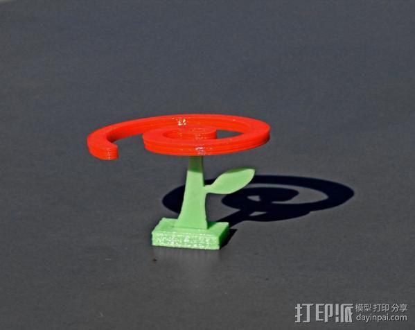 旋转飞花 3D模型  图4