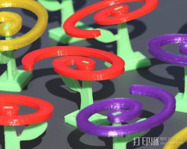 旋转飞花 3D模型  图3