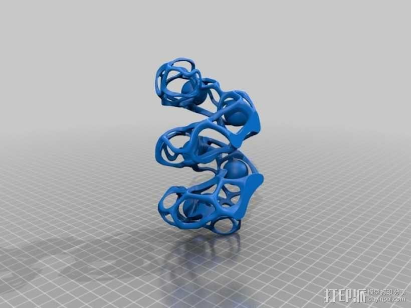 镂空螺旋小球 3D模型  图2
