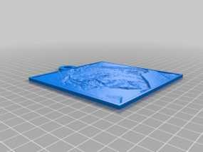 爱因斯坦 浮雕 3D模型