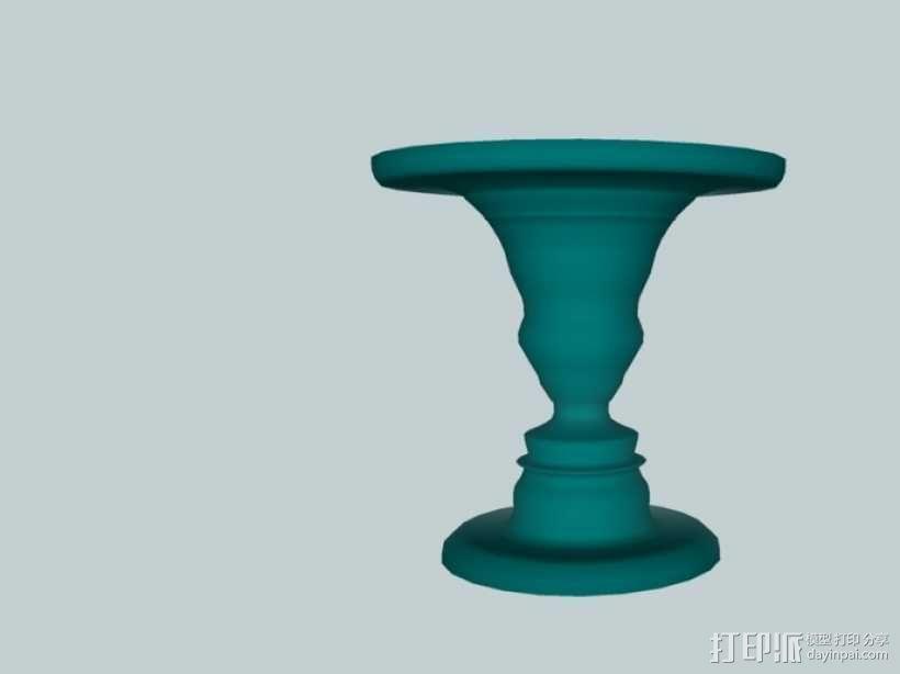 鲁宾杯 3D模型  图1