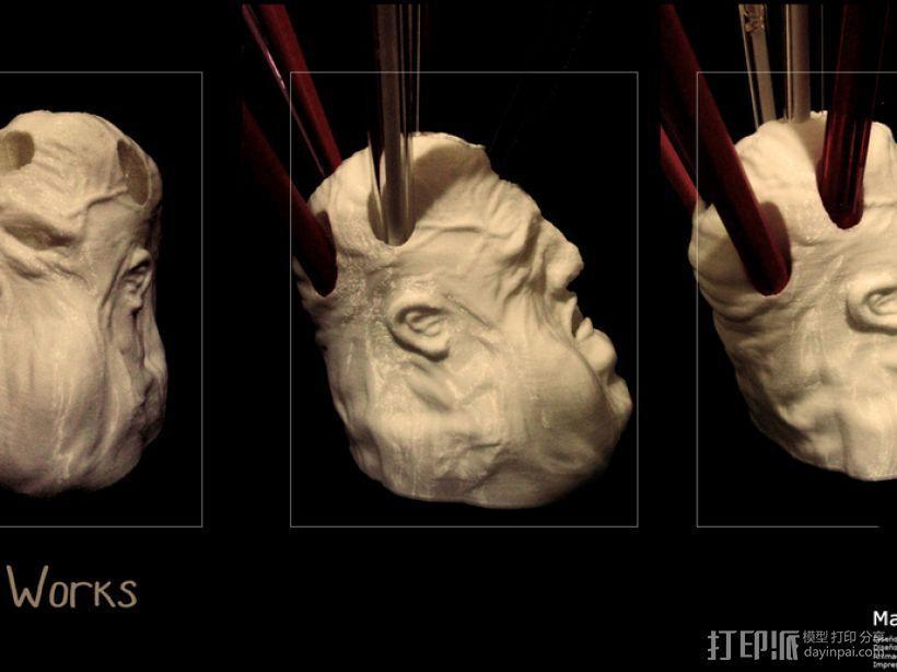 压力释放机—胖家伙—笔筒 3D模型  图1