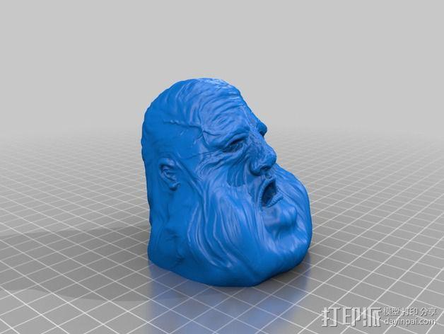 压力释放机—胖家伙—笔筒 3D模型  图2