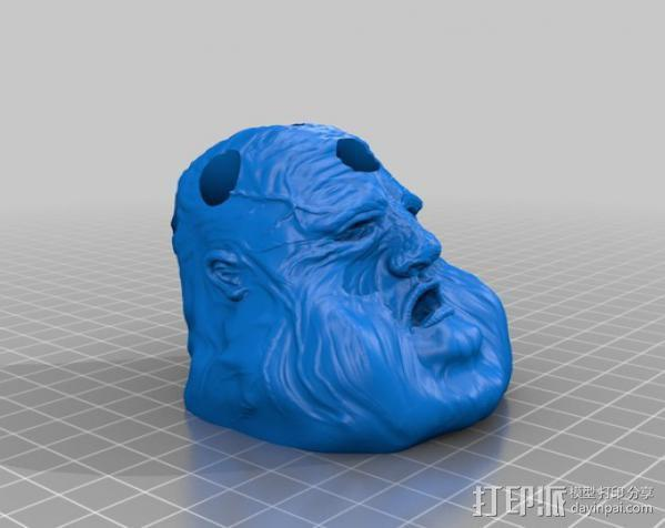 压力释放机—胖家伙—笔筒 3D模型  图4