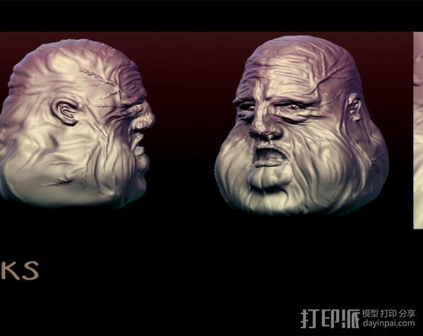 压力释放机—胖家伙—笔筒 3D模型  图3