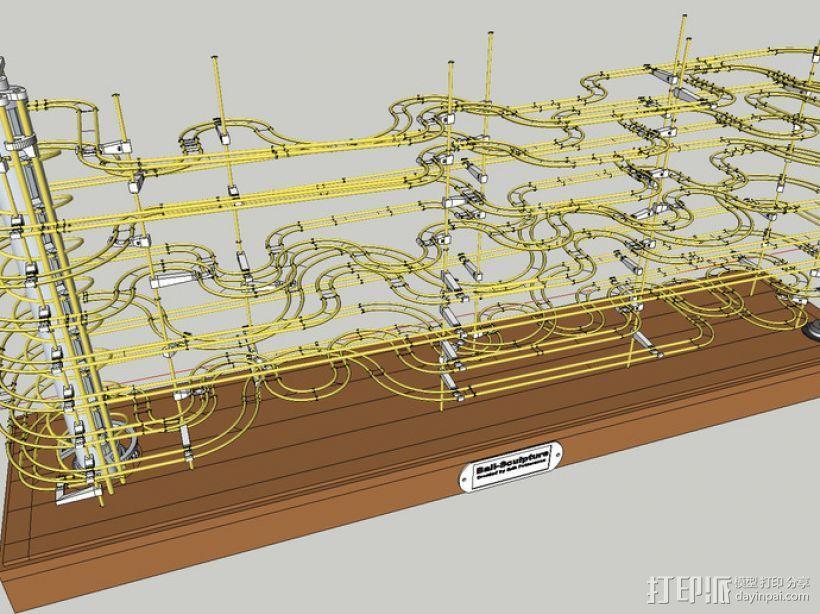 巨型滚珠轨道  3D模型  图7