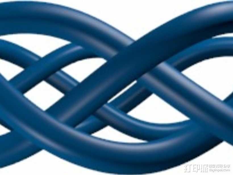编织手链 3D模型  图1