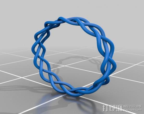 编织手链 3D模型  图2