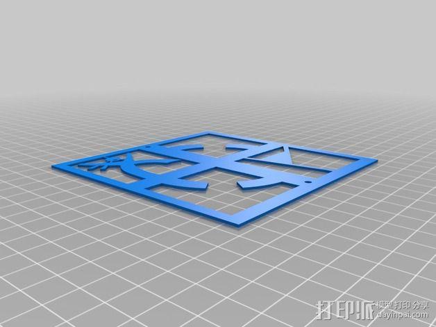 游戏《地理藏宝》标志 3D模型  图2