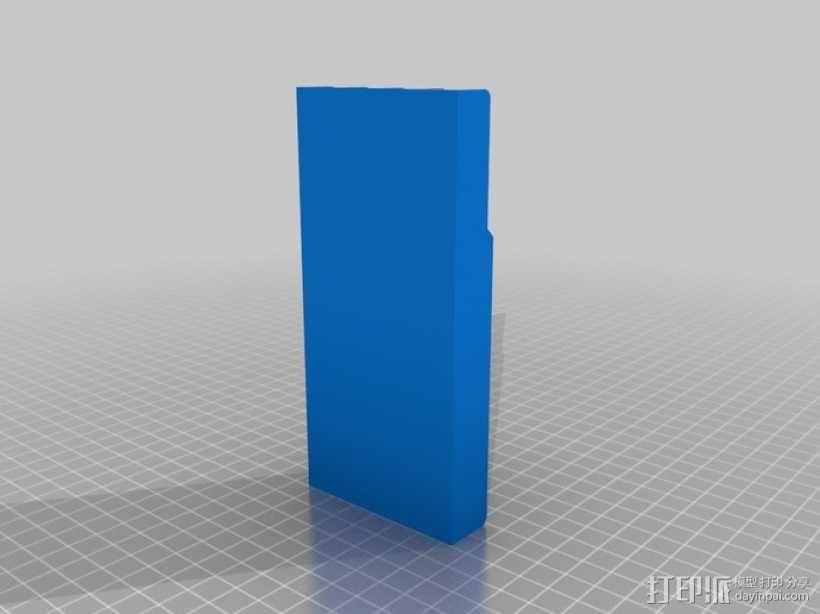 自带笔槽的白板橡皮擦 3D模型  图3