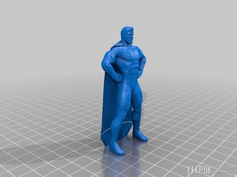 超人进行中 3D模型  图2