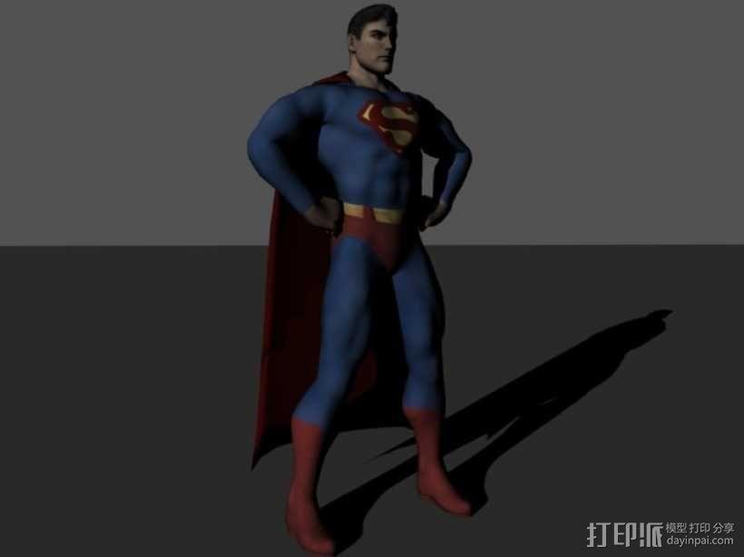 超人进行中 3D模型  图1