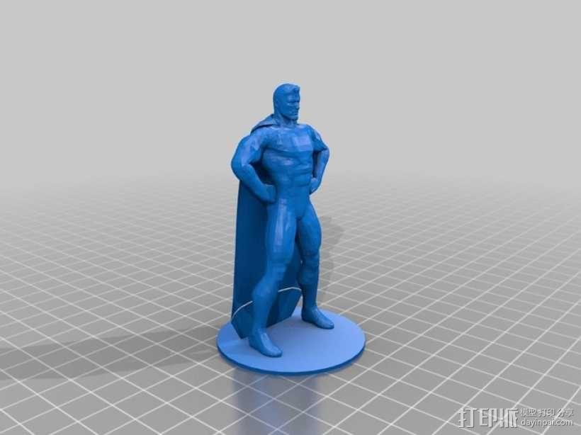 超人进行中 3D模型  图3