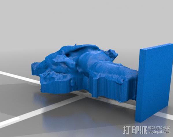 站立的格涅沙 3D模型  图2