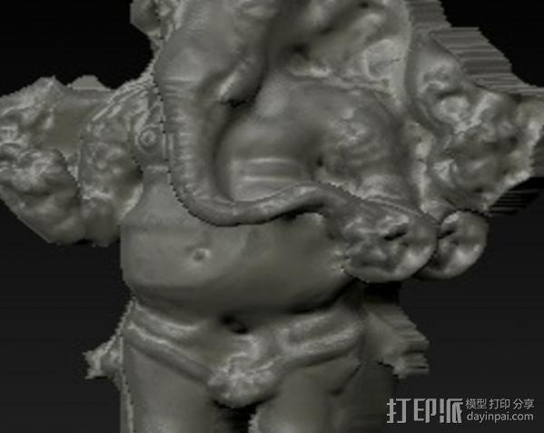 站立的格涅沙 3D模型  图3