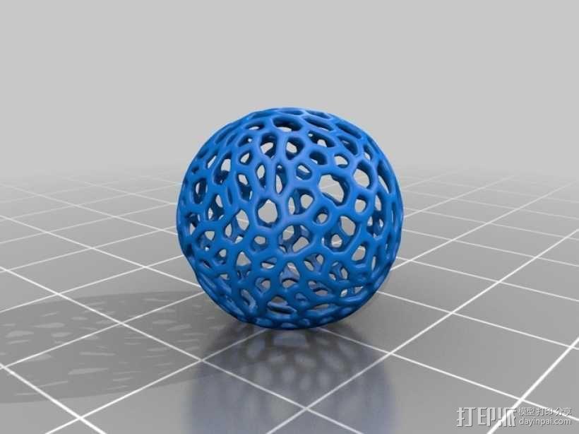 镂空小球 3D模型  图1