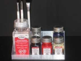 Testors 颜料瓶放置槽 3D模型