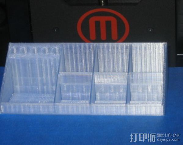 Testors 颜料瓶放置槽 3D模型  图2