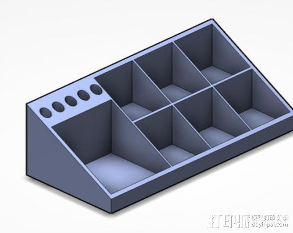 Testors 颜料瓶放置槽 3D模型  图4