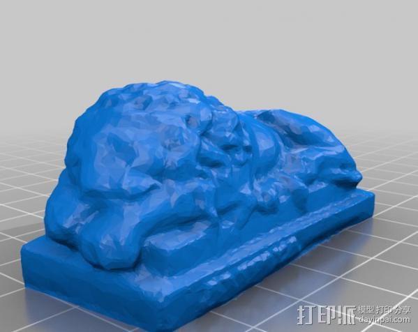石狮子 3D模型  图2