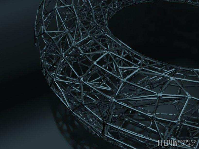 泰森多边形槽 3D模型  图1