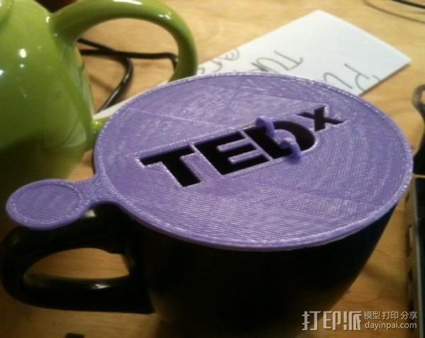 TEDx咖啡漏字板 3D模型  图1