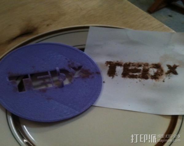 TEDx咖啡漏字板 3D模型  图2