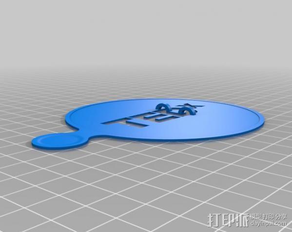 TEDx咖啡漏字板 3D模型  图3