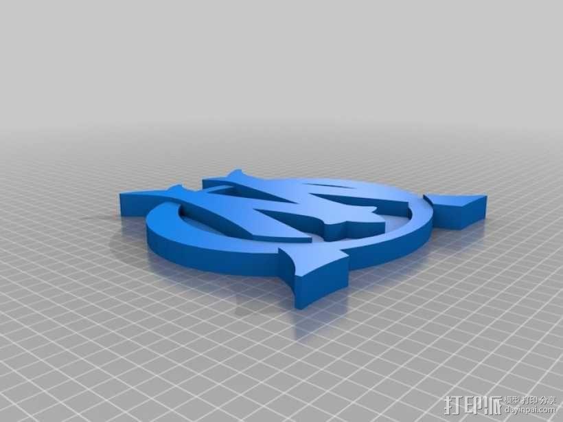 马赛足球俱乐部 标志 3D模型  图3