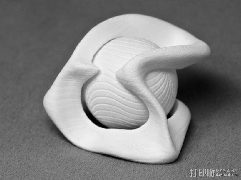 葡萄藤包围的小球 3D模型  图1