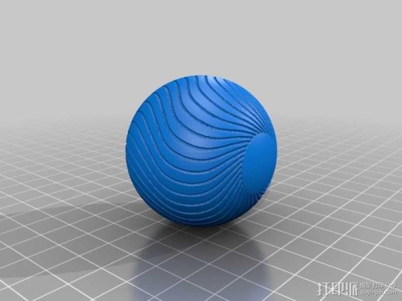 葡萄藤包围的小球 3D模型  图8