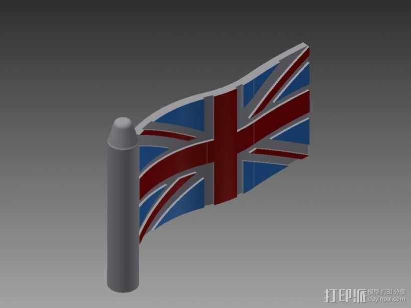 英国国旗  3D模型  图1