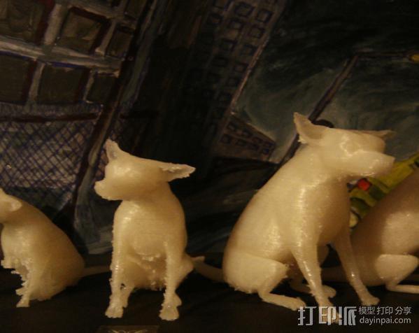 已逝的小狗 3D模型  图2