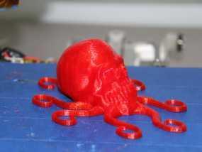 骷髅头 章鱼触角 3D模型