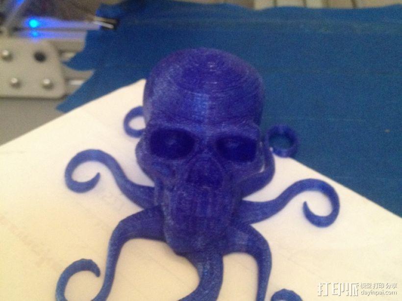 骷髅头 章鱼触角 3D模型  图3