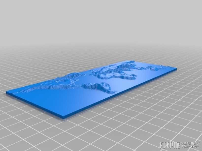 世界地形图 3D模型  图1