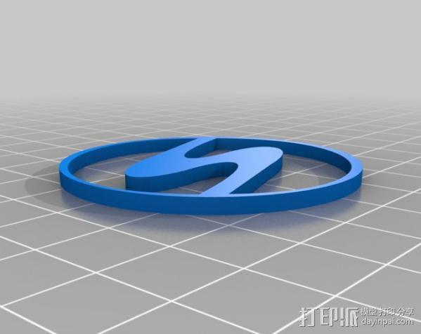 特拉贝特汽车 标志 3D模型  图2