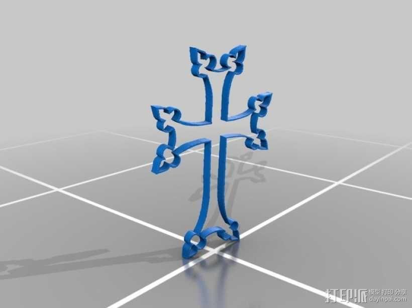 十字架 3D模型  图1