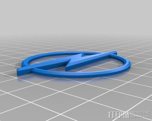 欧宝汽车 标志 3D模型  图2