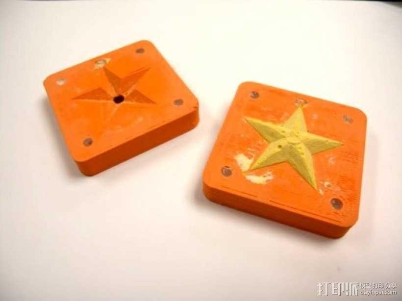 星星 模具 3D模型  图1