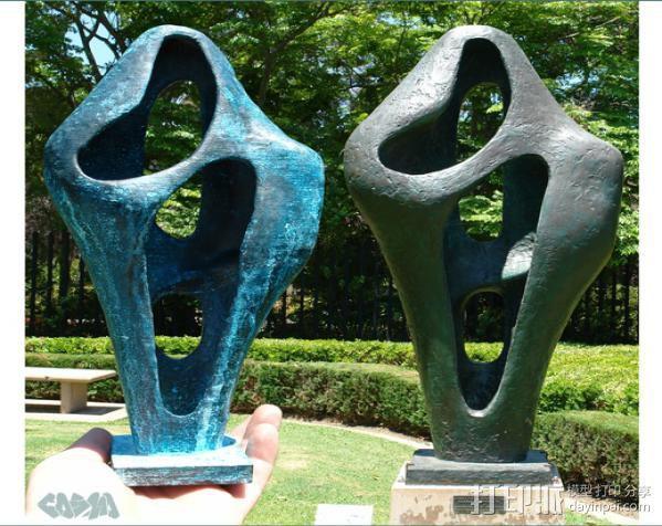 芭芭拉·赫普沃斯雕塑 3D模型  图1