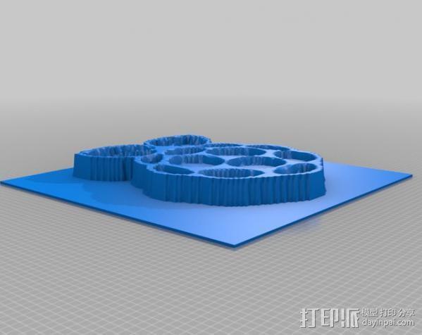 树莓派 标志 3D模型  图2