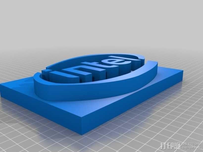 英特尔 面板 3D模型  图1
