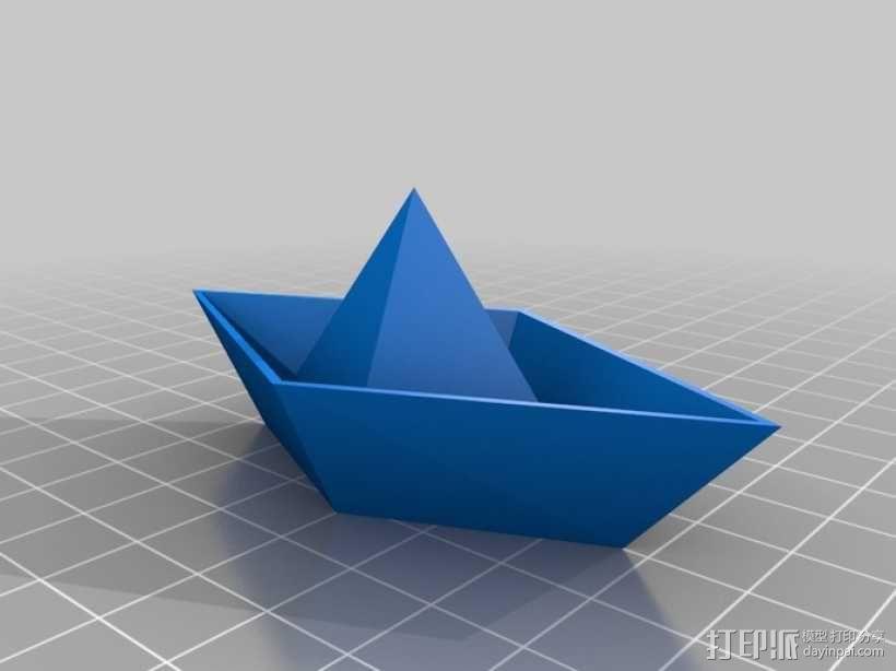 小纸船 3D模型  图2